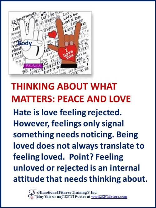 Emotional Fitness Poster Coach promoting peace and love to build Emotional Intelligence