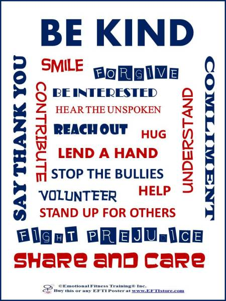 Practice Kindness Emotional Fitness Poster Coach
