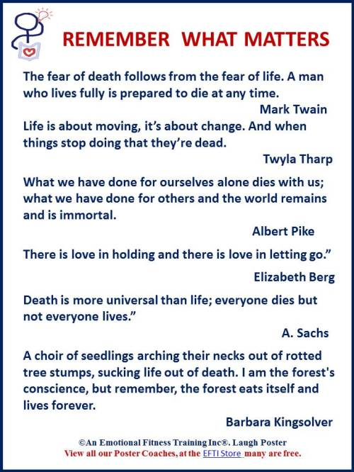 Live by facing death