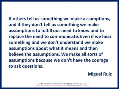 Quote about assumptions