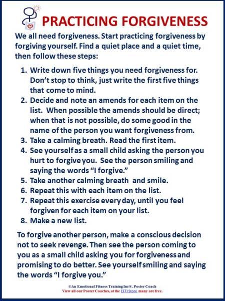 forgiveness exercise