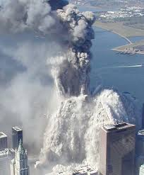 The spewing of ashes from the 911 attacke.