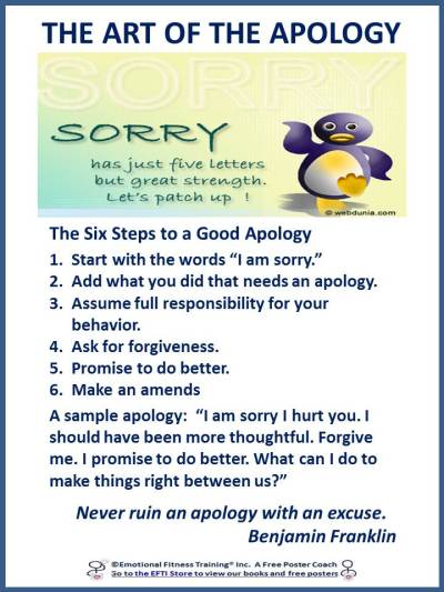 How to apology