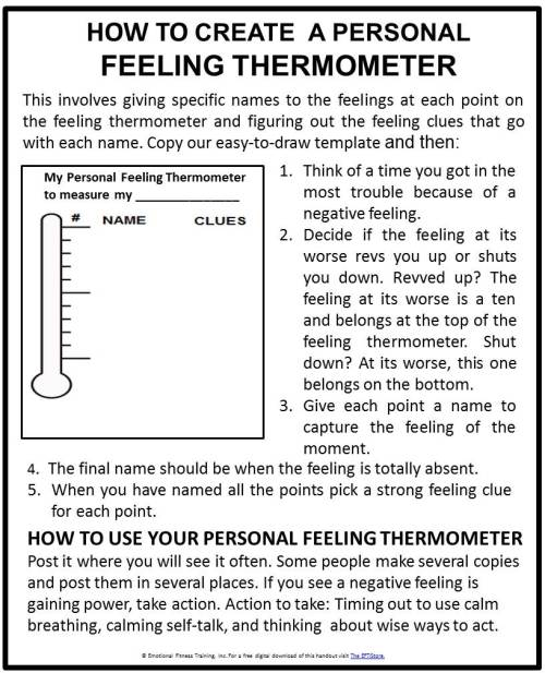 101 personal feeling thermometer