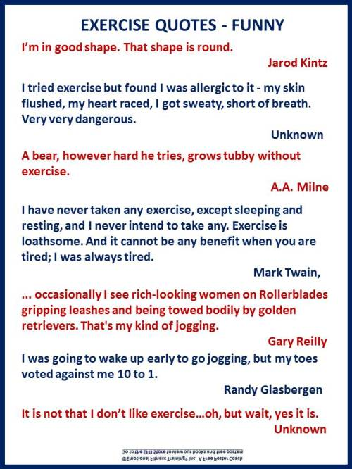 EXERCISE QUOTES FUNNY