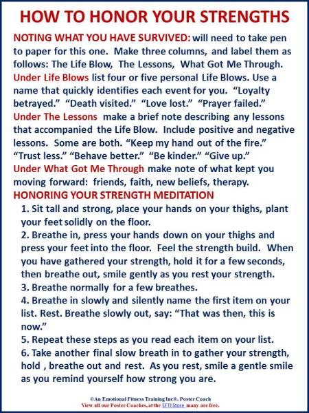 Am EfT exercise designed to overcome trauma
