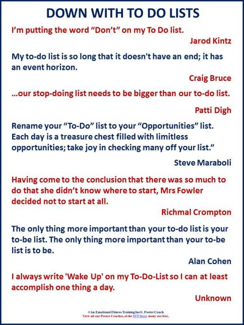 To do list quotes