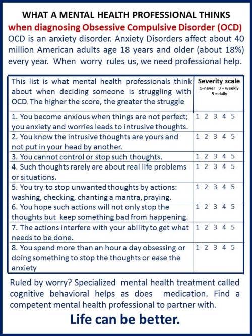 OCD checklist