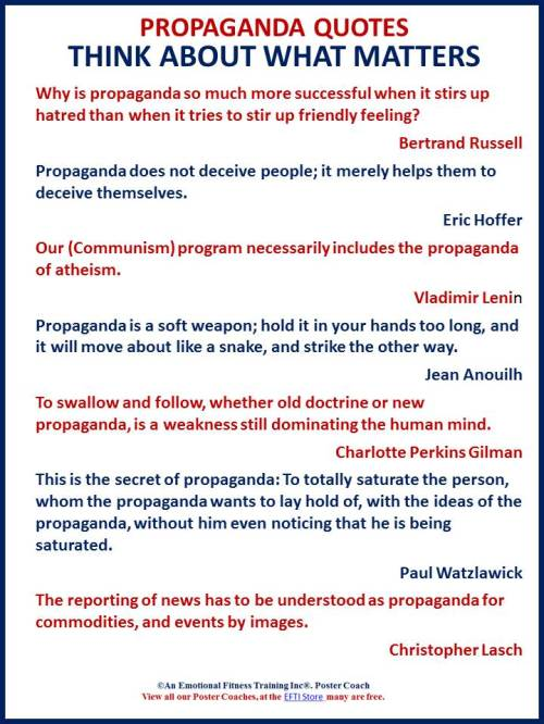 Quotes about propaganda