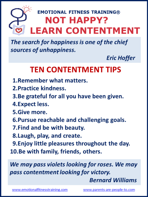 Tips for finding contentment