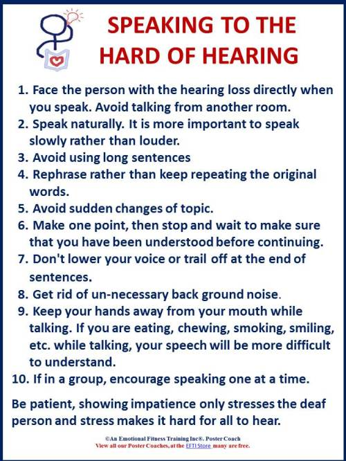 Speaking so the hard of hearing can understand