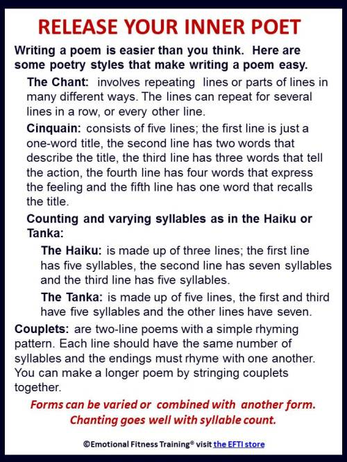 Easy ways to write a poem